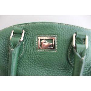 Dooney & Bourke Bags - • DOONEY AND BOURKE GREEN LEATHER CROSSBODY BAG •